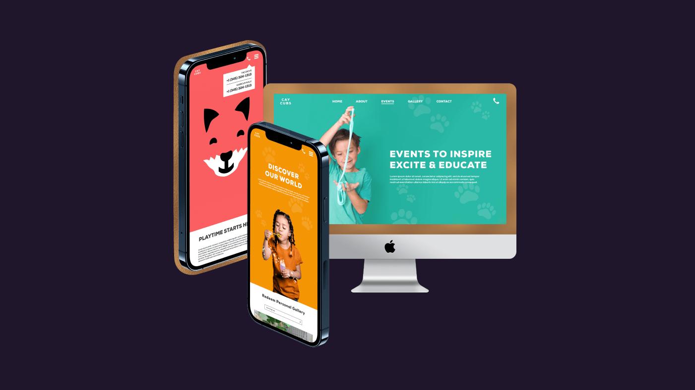 Kids Playroom Website Design